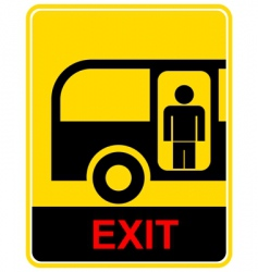 bus stop sign vector image vector image