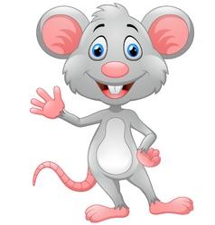 Cartoon rat waving hand vector image vector image