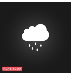 Cloud with rain weather icon vector image