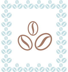 Coffee beans brown icon vector