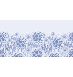 Evening garden horizontal seamless pattern vector image vector image
