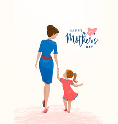 greeting mother day mom vector image
