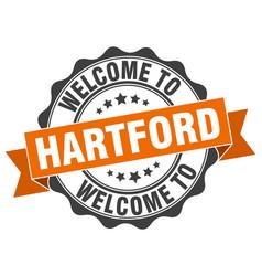 Hartford round ribbon seal vector