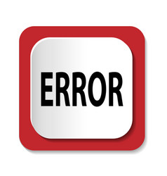 icon with the word ERROR vector image