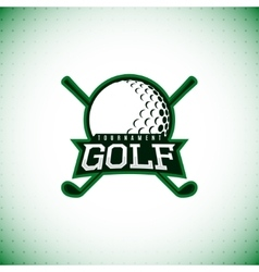 Label of golf tournament vector
