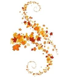 Leaves swirl vector