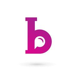 Letter B speech bubble logo icon design template vector image