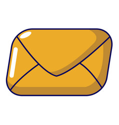 mail icon cartoon style vector image