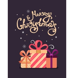 Merry Christmas greeting cards vector image vector image