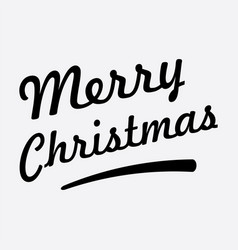 Merry christmas text on white background vector