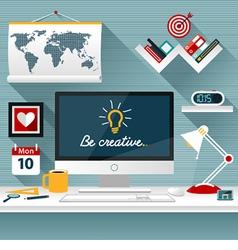 Modern business office vector