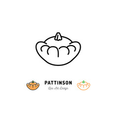 pattinson zucchini icon vegetables logo thin line vector image vector image