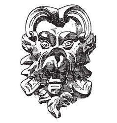 rounded grotesque mask was designed by vector image