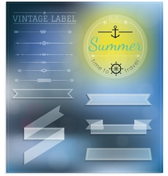 Set of vintage summer hipster badges vector