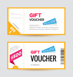 simple and clean modern gift voucher template vector image vector image