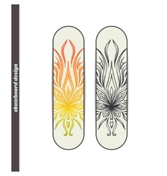 Skateboard design abstract marijuana vector