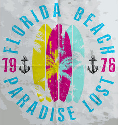 Summer poster florida vector