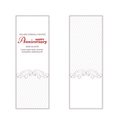two elegant vintage vertical banners for vector image vector image