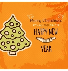 Typographic Christmas and New Year Vintage vector image