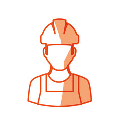Worker man face vector