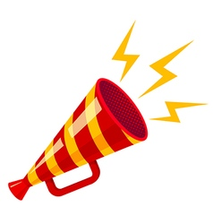 megaphone yellow strip red isolated vector image