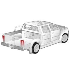 Pickup ifographics cutaway vector image