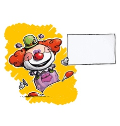 Clown Holding Business Card vector image