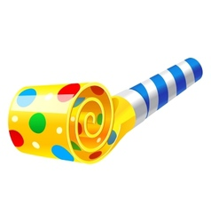 Party horn blower vector