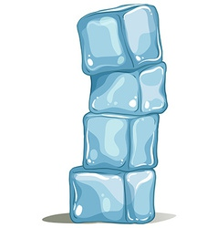 A pile of icecubes vector