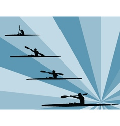 Rowing with background - vector