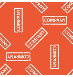 Orange company stamp pattern vector