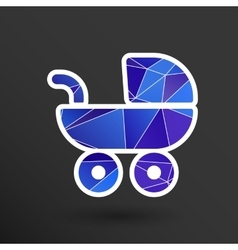 Baby stroller icon maternity wheel vector