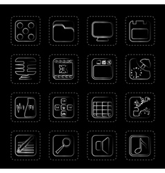 Phone performance internet and office icons vector