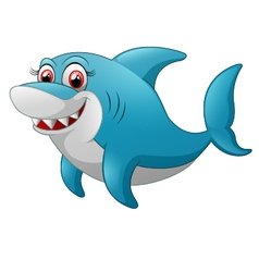 Comical shark character vector