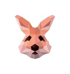 Bunny ears with nice character polygons head vector