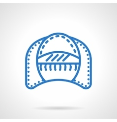 Seat patio simple blue line icon vector