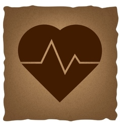 Heartbeat sign vintage effect vector