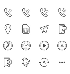 Simple Icons for Mobile Phone and Application vector image