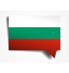 Bulgaria - paper 3d realistic speech bubble vector