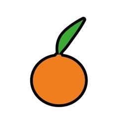 Orange icon healthy and organic food vector