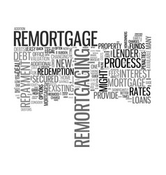 A quick guide to remortgage text word cloud vector