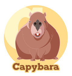 Abc cartoon capybara vector