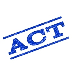 Act watermark stamp vector