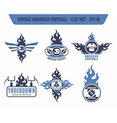american football label sticker vector image vector image