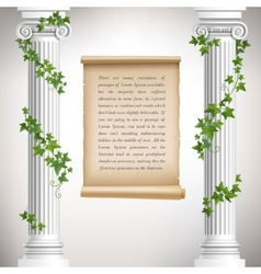 Antique columns poster vector image