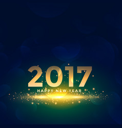 Beautiful new year 2017 background with sparkles vector