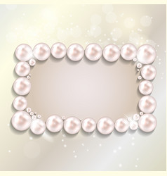 Beauty Pearl Frame Background vector image vector image