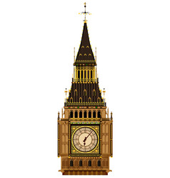 Big ben clocktower vector