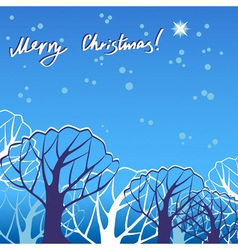 Christmas trees in snow vector image vector image