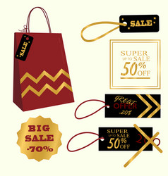 collection of sale discount vector image